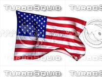 3d c4d flag loop