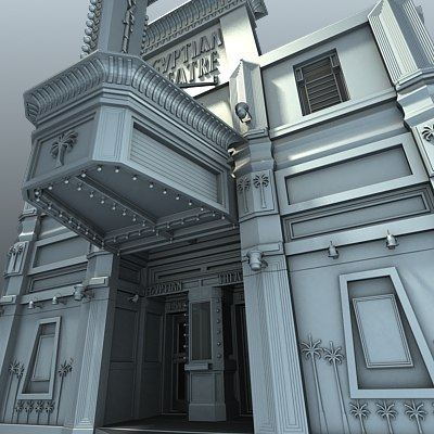 movie theater main 3d model