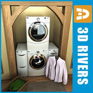 3d model of maytag washer dryer scene