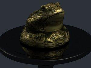 3d feng money frog model