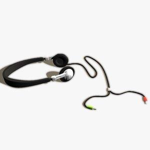 3d high-detailed headphone model