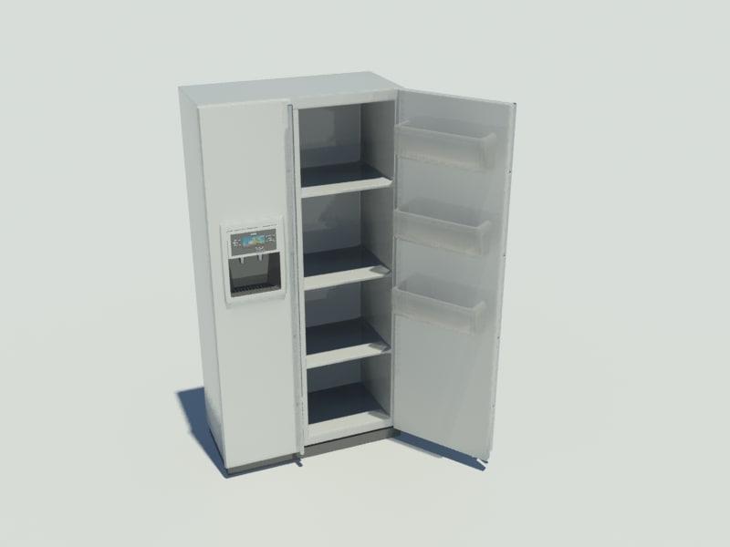 3d model fridge modern