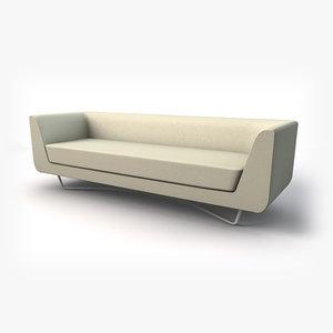bellino sofa -three seater 3ds