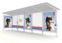 3d model shelters bus tram