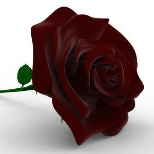 3d rose flower model