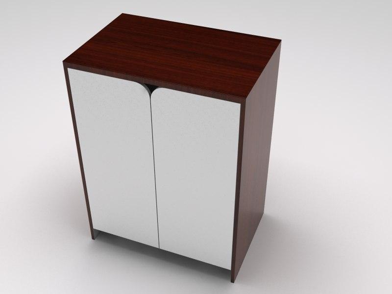 3d retail showcase island closet model