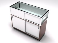 retail showcase counter cabinet 3ds