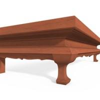 3d model table singha-leg-style