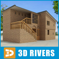 Small town house 25 by 3DRivers