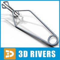 test tube clamp 3d 3ds