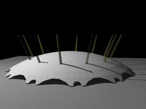 3dsmax millenium dome o2 arena