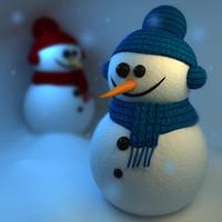 snowman snowmen 3d model
