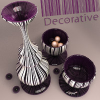 Decorative Vase stripes
