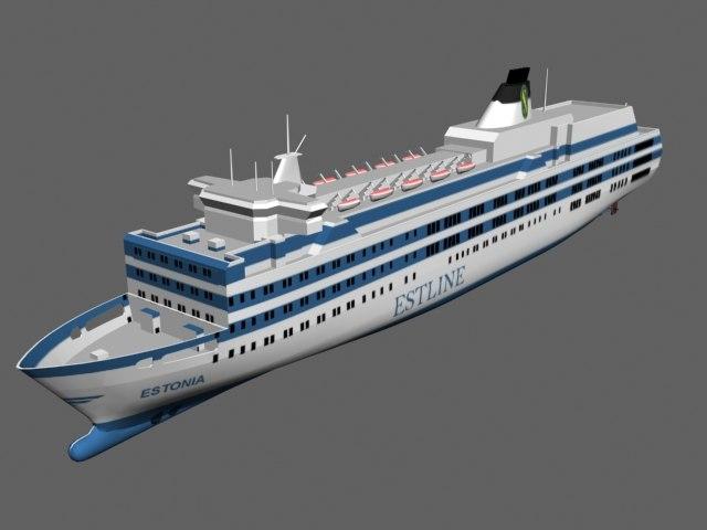 estonia disaster ship 3d 3ds