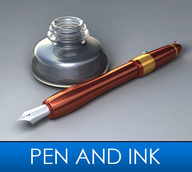 3ds max dip pen ink