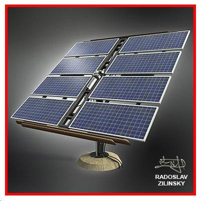 solar panels 3d model