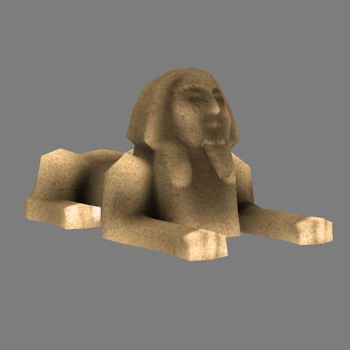 3d sphinx - model