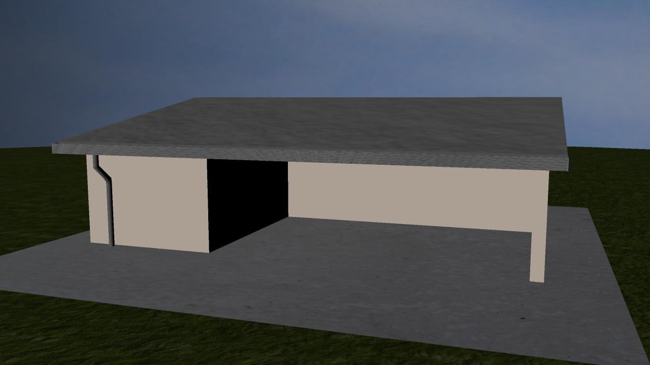 3d model building canteen bookshop