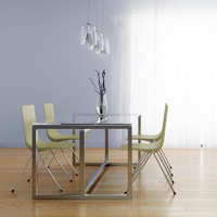 dining room set 3d model
