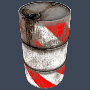 red gallon drum 3d 3ds