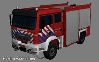 MAN TGM 13.280 4X4 BL Dutch Fire truck Low Poly