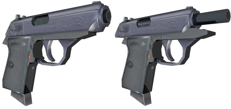walther ppk 3d c4d