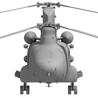 Chinook CH-47 Helicopter Untextured