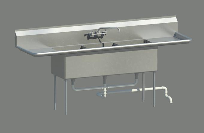 maya 3 compartment sink. Interior Design Ideas. Home Design Ideas