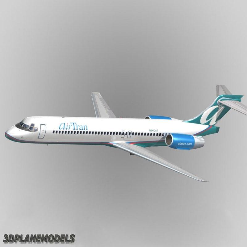 3d b717-200 air tran airways