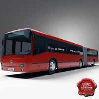 articulated bus mercedes benz 3d model