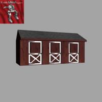 polys barn 3d model