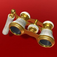antique opera glasses 3d ma