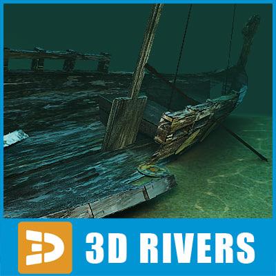 sunken boat 3d max