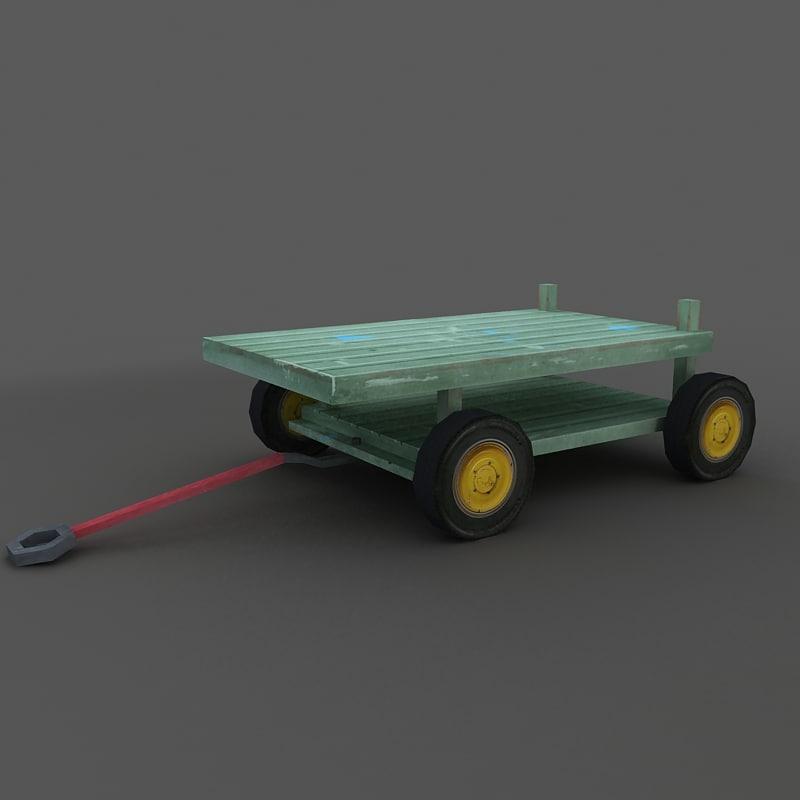 missile cart 3d model