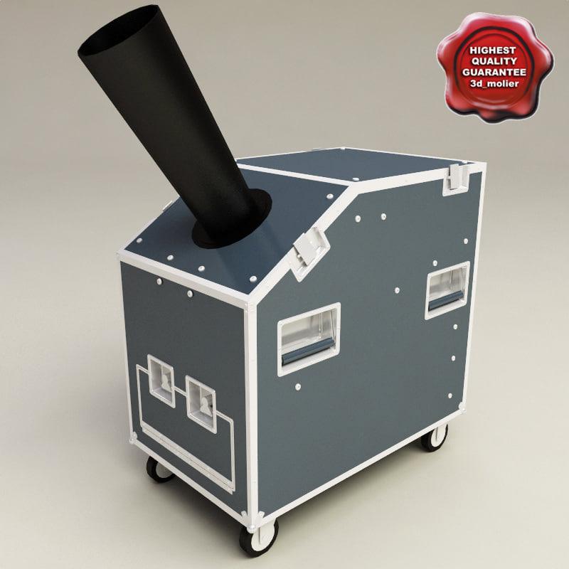 confetti machine 3d model