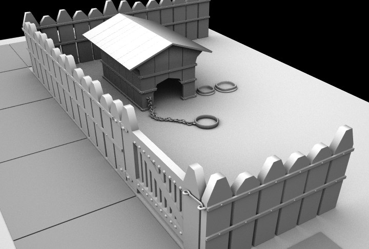 dog house 3d lwo