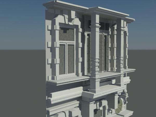 3d model fachada