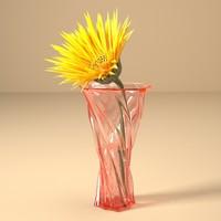 glass vase 3d 3ds