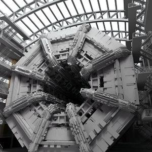 industrial interior 3d c4d