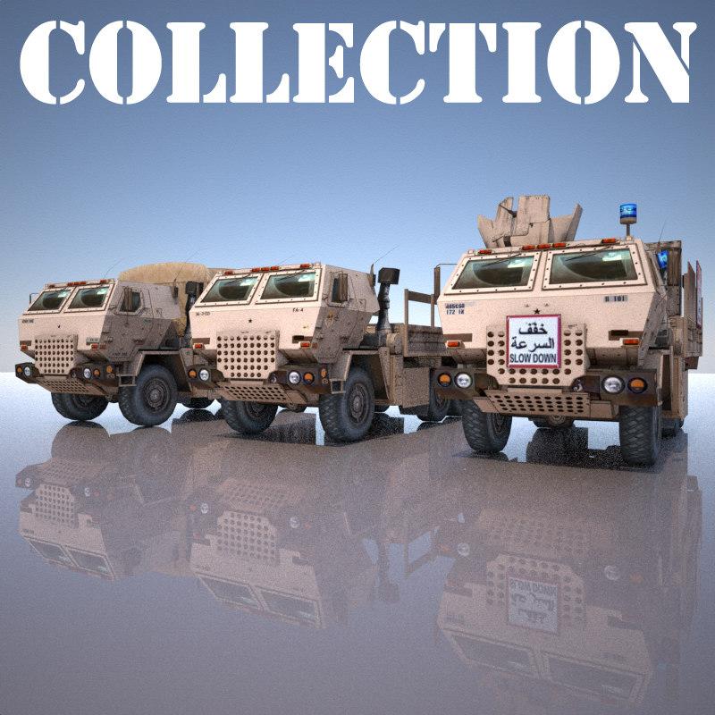 3 truck military 3d max