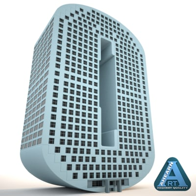 building shape number 0 3d max