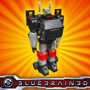 transforming truck vehicle 3ds