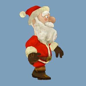 santa claus reindeer 3d max