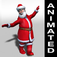 Santa Claus rigged and animated 3d model