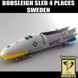 bobsleigh sled - 4 3d model
