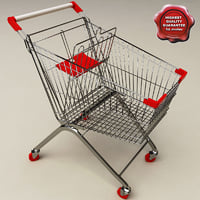 supermarket trolley 3d model