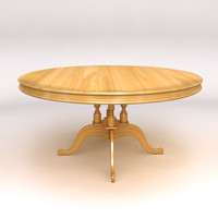 3ds max wooden dining table