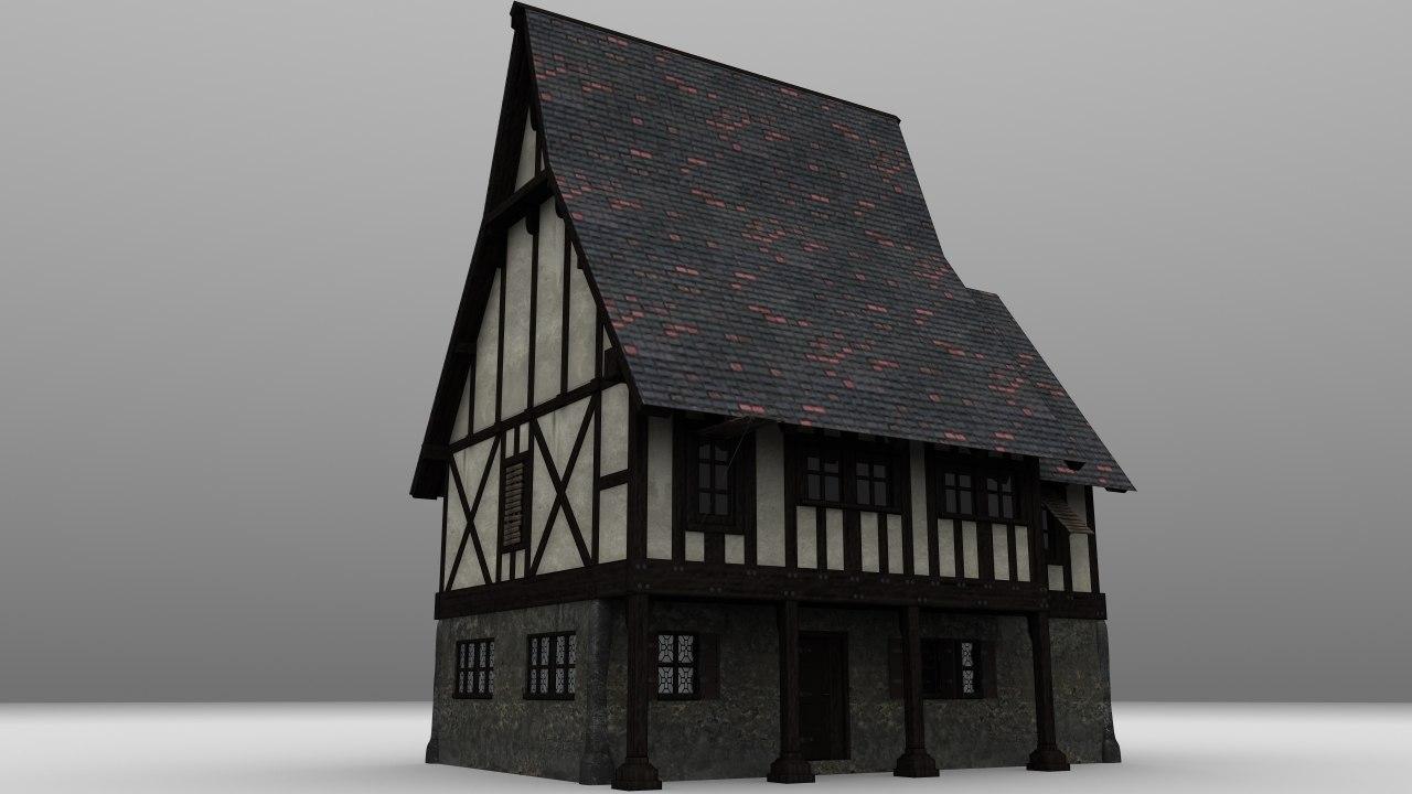 medieval tavern 3d obj