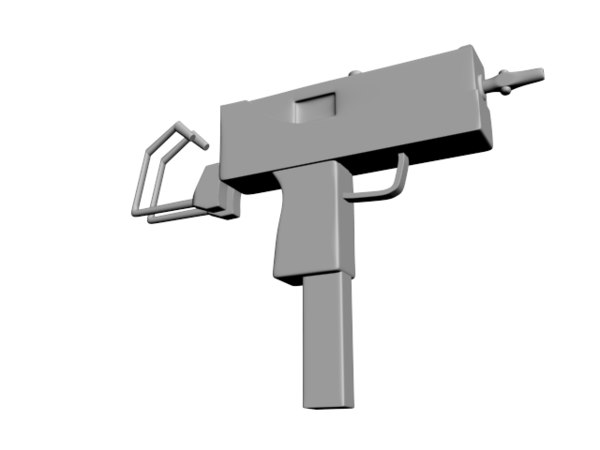 3d model ingram mac 10