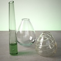 glass vase set 3ds